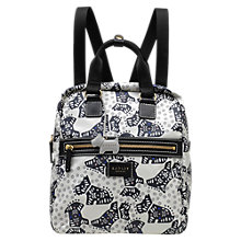 Buy Radley Folk Dog Fabric Medium Backpack, Ivory Online at johnlewis.com