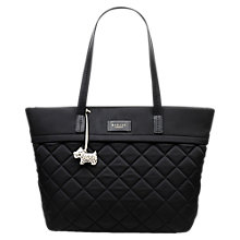 Buy Radley Hilly Fields Quilted Fabric Large Tote Bag, Black Online at johnlewis.com