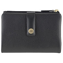 Buy Radley Larks Wood Leather Large Matinee Purse, Black Online at johnlewis.com