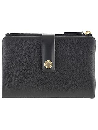 Radley Larks Wood Leather Medium Matinee Purse, Black
