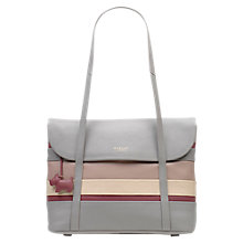 Buy Radley Pembroke Leather Medium Tote Bag, Grey Online at johnlewis.com