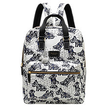 Buy Radley Folk Dog Fabric Large Backpack, Ivory Online at johnlewis.com