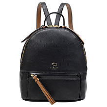 Buy Radley Postman's Park Leather Small Backpack, Black Online at johnlewis.com