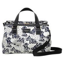 Buy Radley Folk Dog Fabric Medium Grab Bag, Ivory Online at johnlewis.com