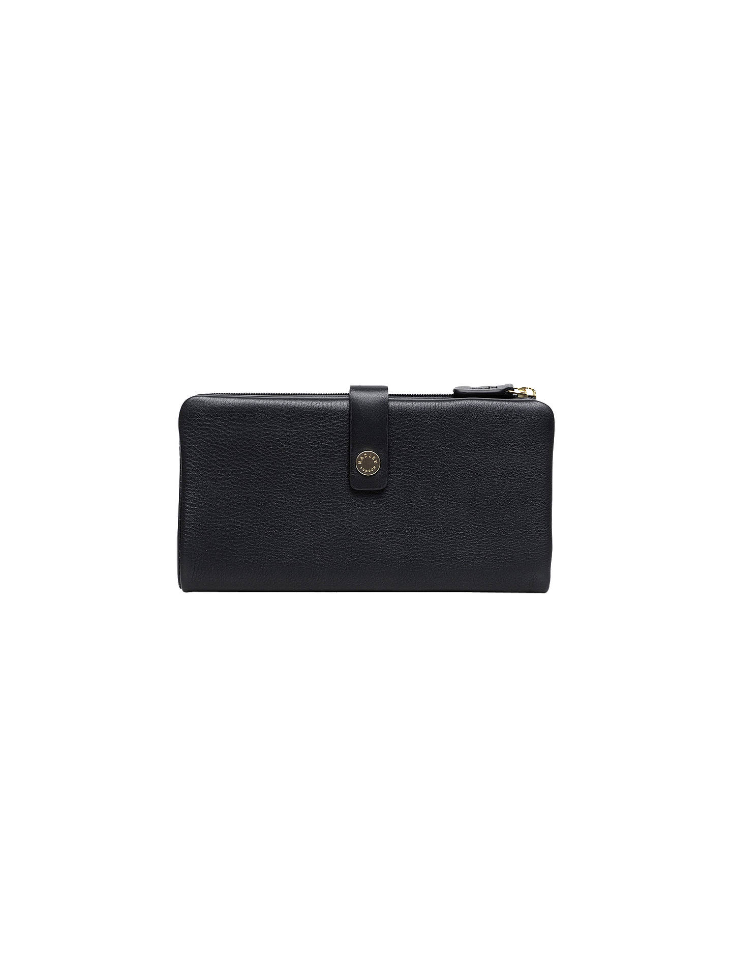 BuyRadley Larks Wood Leather Large Matinee Purse, Black Online at johnlewis.com