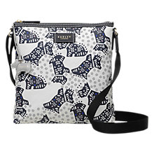 Buy Radley Folk Dog Fabric Medium Cross Body Bag, Ivory Online at johnlewis.com