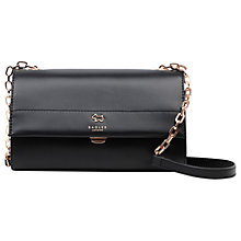 Buy Radley Fenton House Leather Small Across Body Bag, Black Online at johnlewis.com