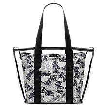 Buy Radley Folk Dog Large Grab Bag, Ivory Online at johnlewis.com