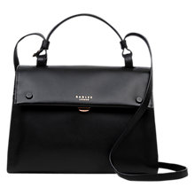 Buy Radley Lavender Garden Leather Grab Bag, Black Online at johnlewis.com