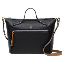 Buy Radley Postman's Park Leather Large Grab Bag, Black Online at johnlewis.com