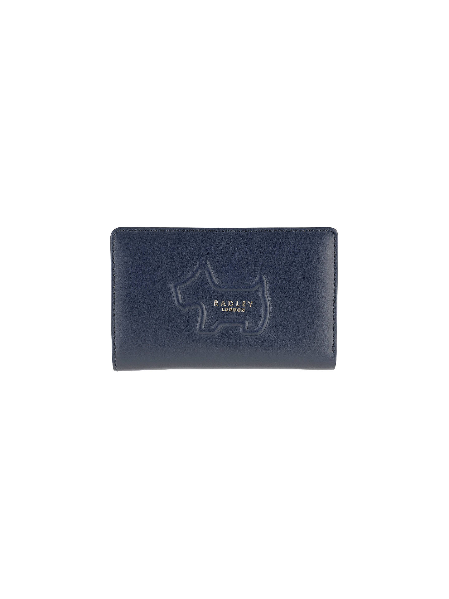 Buy Radley Shadow Leather Medium Purse, Navy Online at johnlewis.com