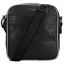 Buy Ted Baker Carvern Emboss Large Flight Bag, Black Online at johnlewis.com