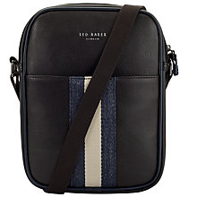 Buy Ted Baker Kondoor Mini Flight Bag, Chocolate Online at johnlewis.com