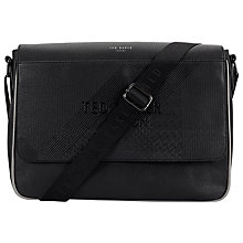 Buy Ted Baker Airlift Emboss Messenger Bag, Black Online at johnlewis.com