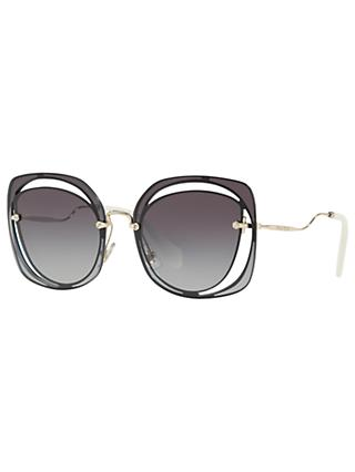 Miu Miu MU 54SS Square Sunglasses, Grey