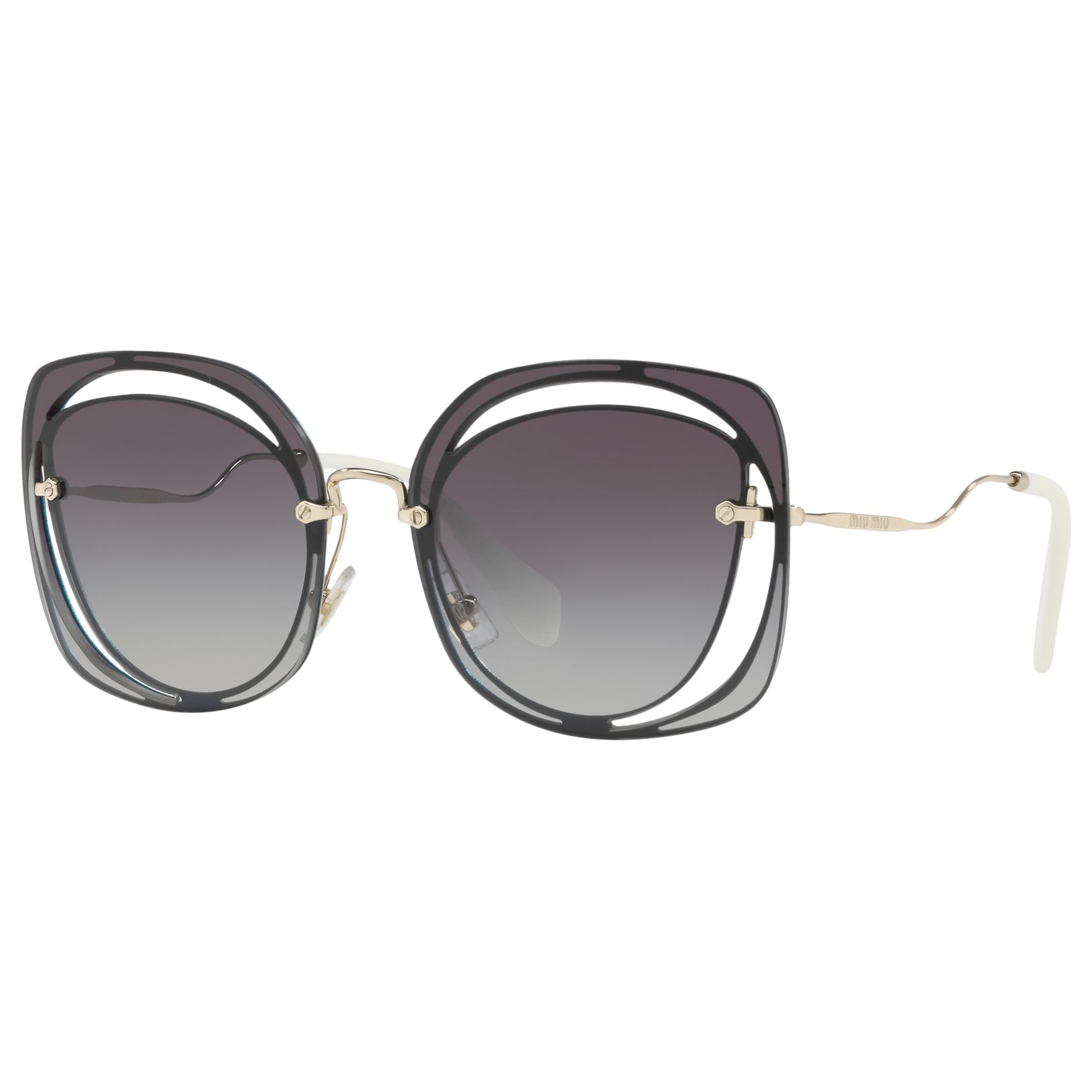 Miu Miu Miu Miu MU 54SS Square Sunglasses, Grey