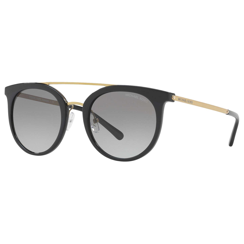 Michael Kors MK2056 Ila Oval Sunglasses Black Grey Gra nt at John