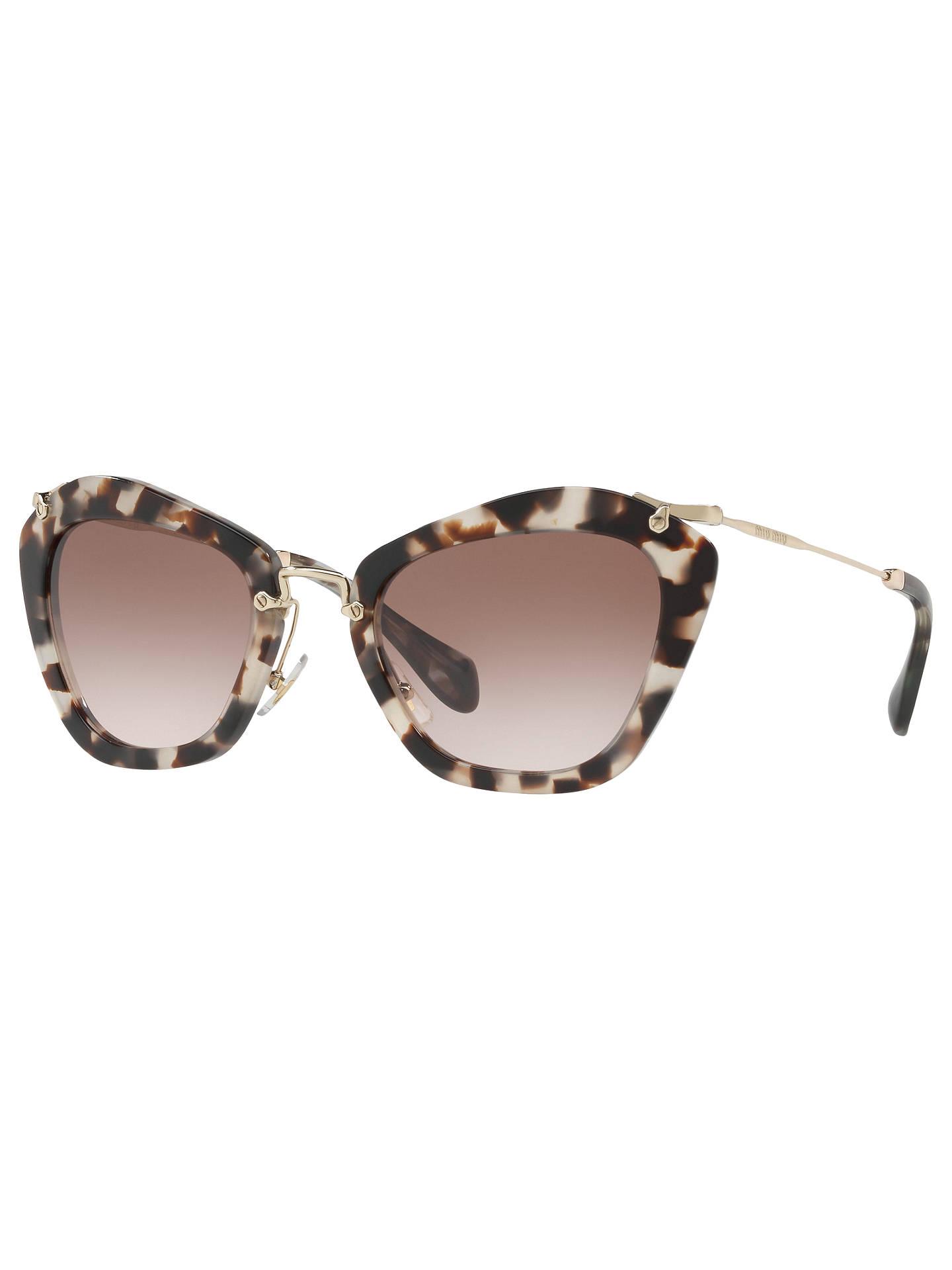 c56a639e039e Miu Miu MU 10NS Pentagonal Cat s Eye Sunglasses at John Lewis   Partners