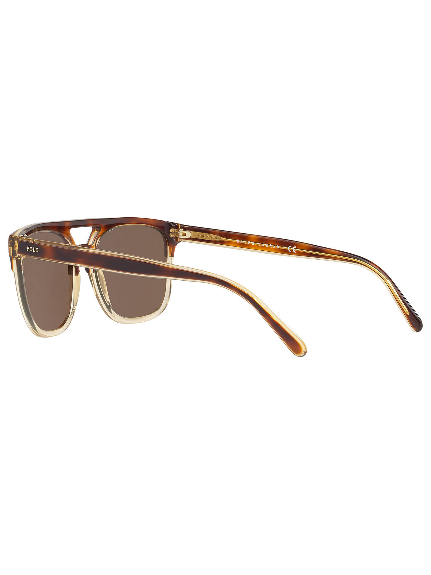 BuyPolo Ralph Lauren PH4125 Men's D-Frame Sunglasses, Tortoise/Brown Online at johnlewis.com
