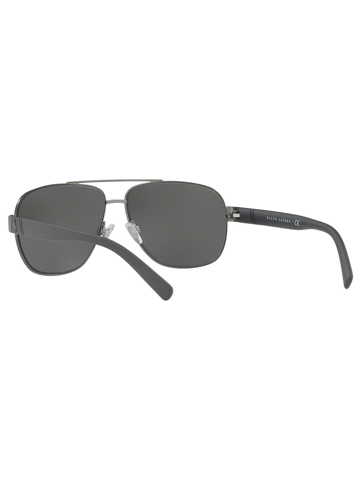 BuyPolo Ralph Lauren PH3110 Men's Aviator Sunglasses, Charcoal/Mirror Silver Online at johnlewis.com