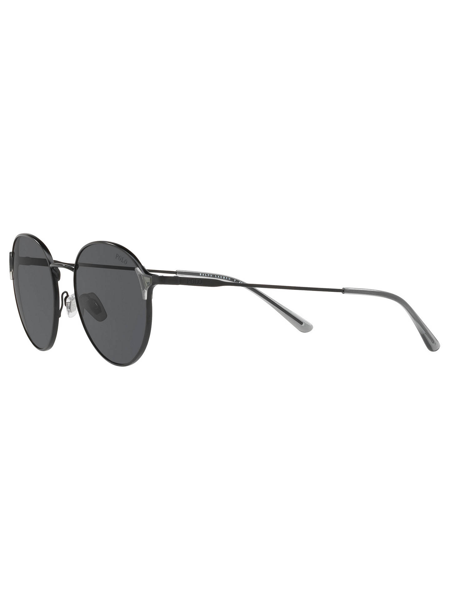 BuyPolo Ralph Lauren PH3109 Oval Sunglasses, Black/Grey Online at johnlewis.com
