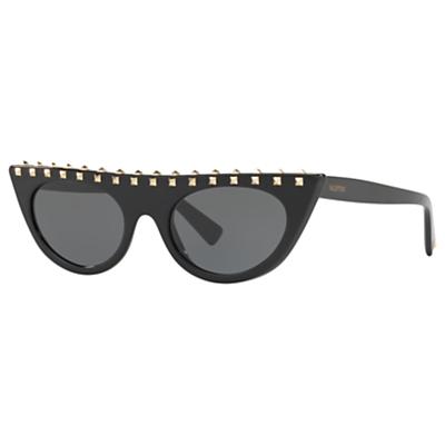 Valentino VA4018 Studded Cat's Eye Sunglasses, Black/Grey