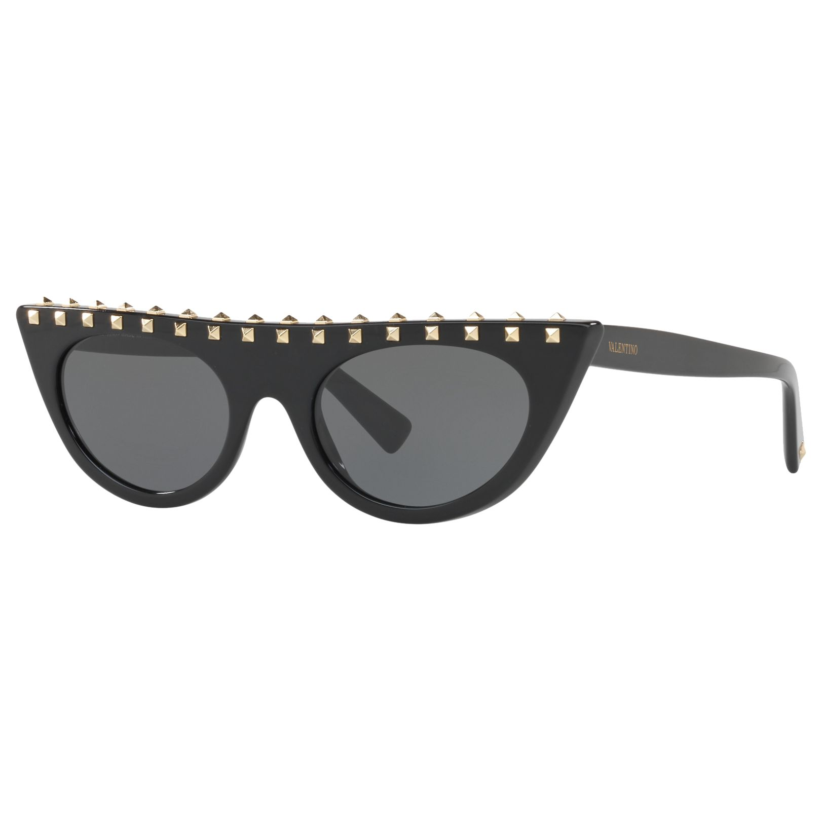 Valentino Valentino VA4018 Studded Cat's Eye Sunglasses, Black/Grey