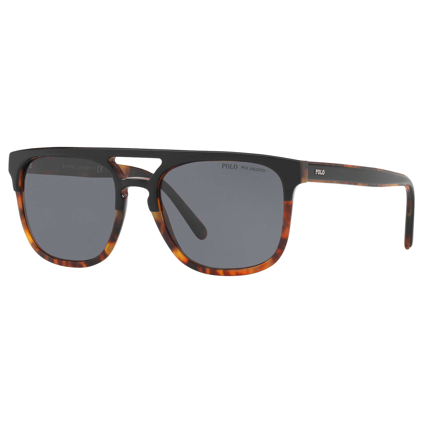 Polo Ralph Lauren Ph4125 Polarised D Frame Sunglasses, Tortoise/Grey by Ralph Lauren