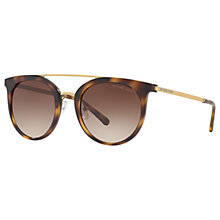 Buy Michael Kors MK2056 Ila Oval Sunglasses, Tortoise/Brown Gradient Online at johnlewis.com