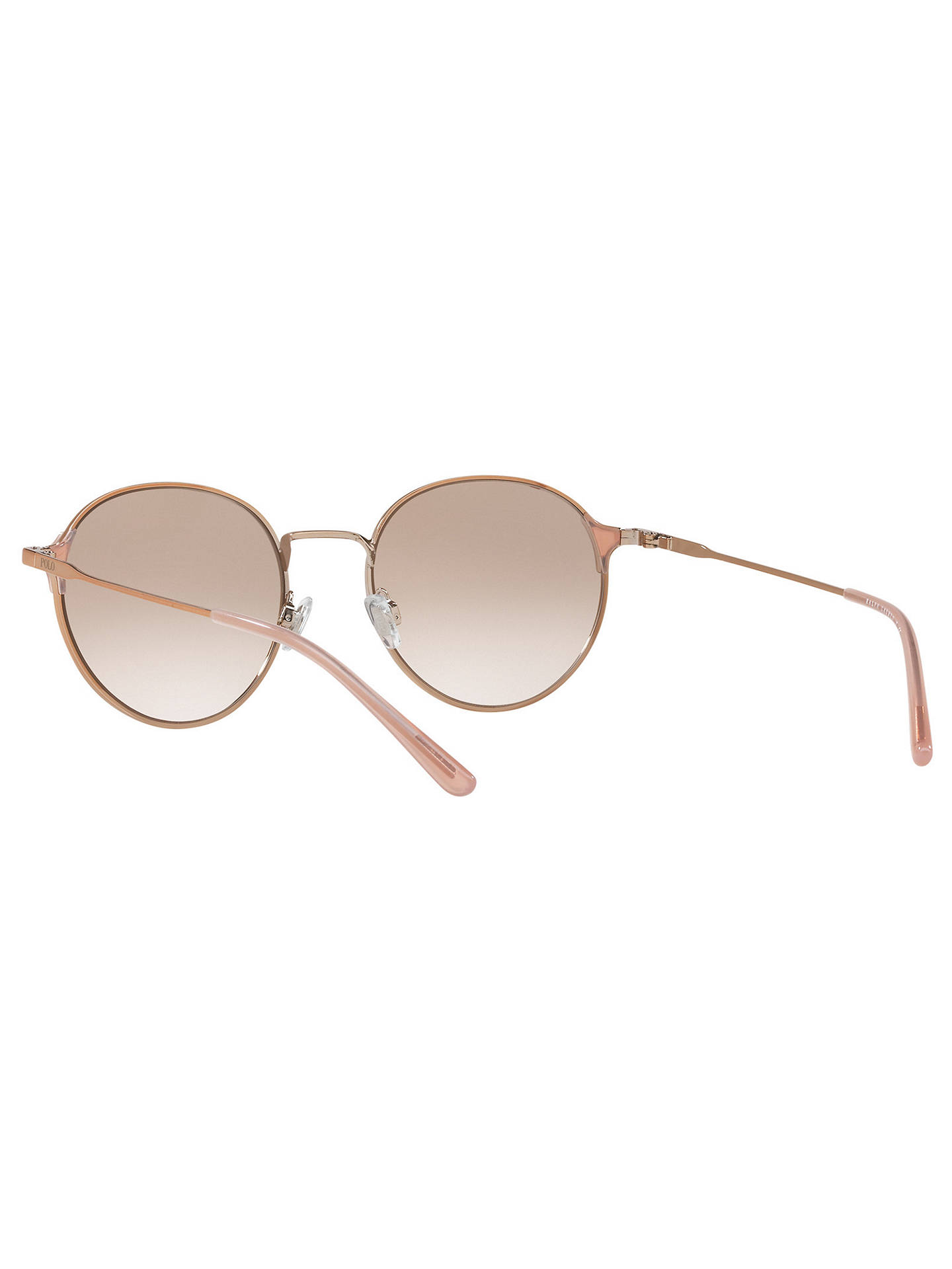 Buy Polo Ralph Lauren PH3109 Oval Sunglasses, Rose Gold/Mirror Lilac Online at johnlewis.com