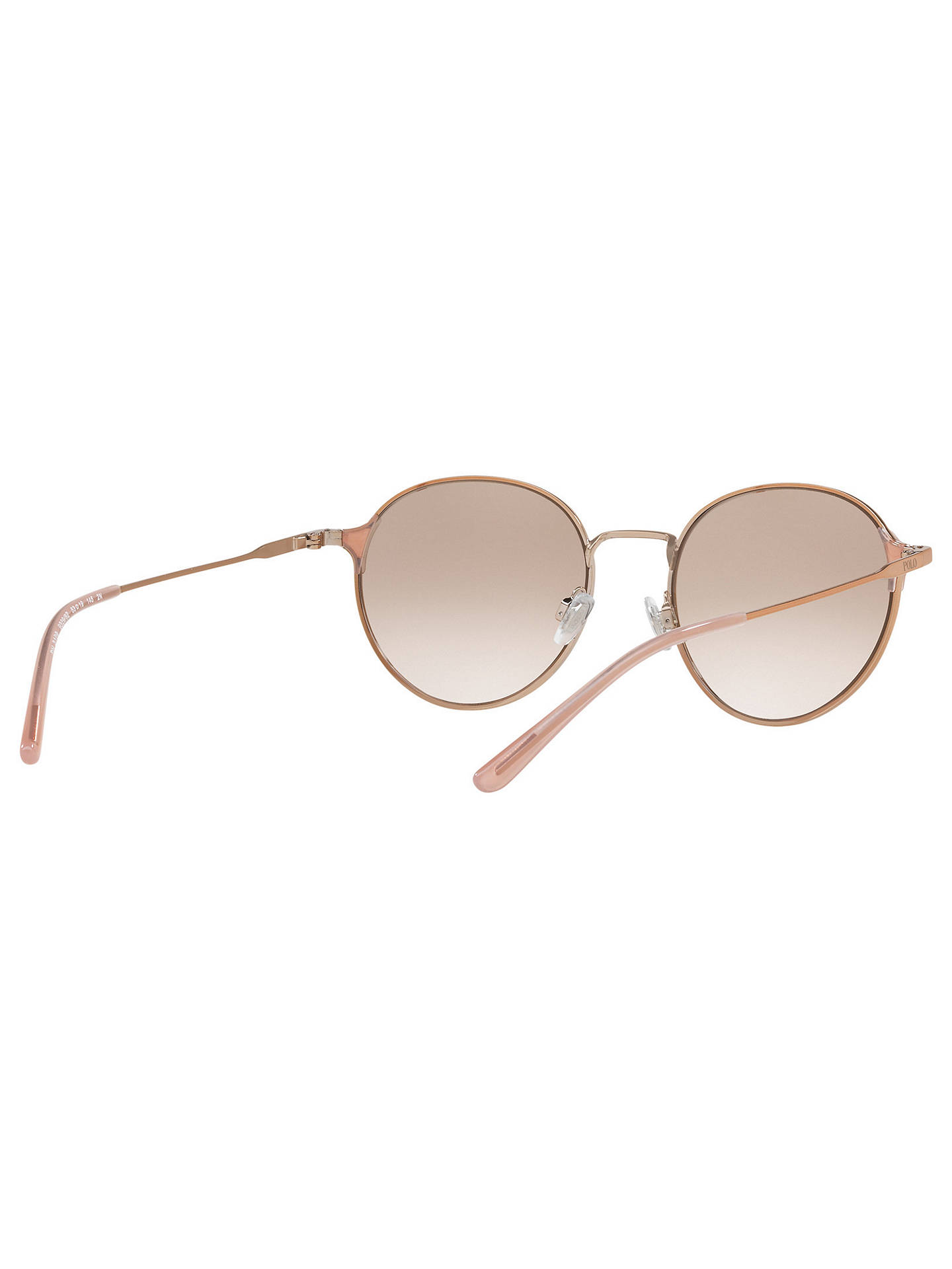 BuyPolo Ralph Lauren PH3109 Oval Sunglasses, Rose Gold/Mirror Lilac Online at johnlewis.com