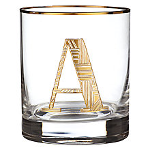 Buy Anthropologie Gilded Monogram Glass Tumbler, 443ml Online at johnlewis.com