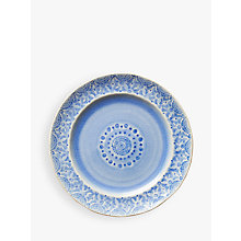 Buy Anthropologie Old Havana Side Plate, Blue, Dia.21cm Online at johnlewis.com