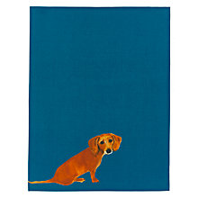 Buy Anthropologie Sally Muir Dog-a-Day Dachshund Tea Towel, Blue Online at johnlewis.com