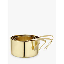 Buy Anthropologie Brass Measuring Cups, Set of 4, Gold Online at johnlewis.com