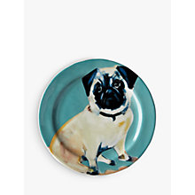 Buy Anthropologie Sally Muir Dog-a-Day Dessert Plate, Dia.21.5cm, Pug Online at johnlewis.com