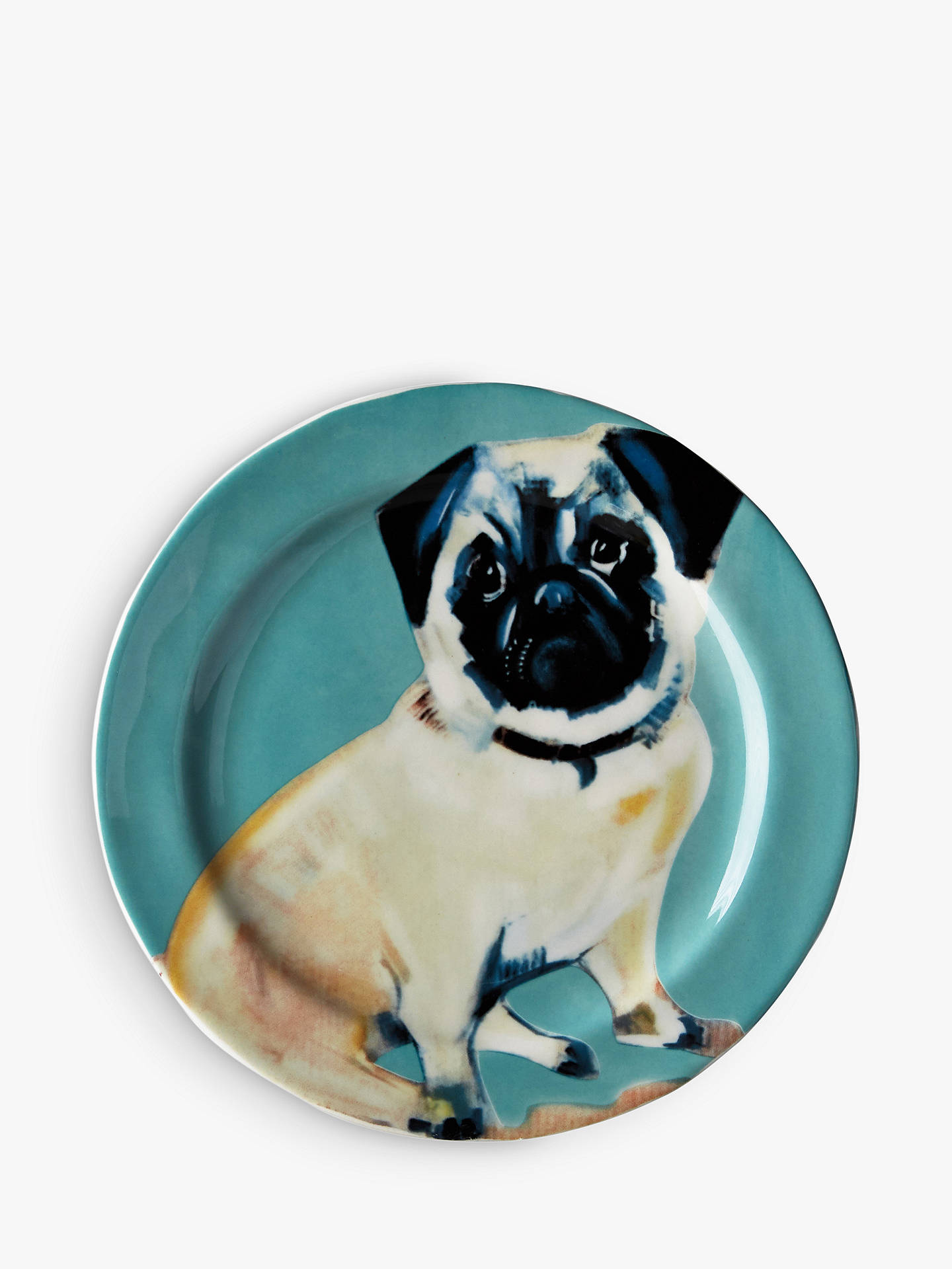 Anthropologie Sally Muir Dog A Day Dessert Plate Dia215cm Pug At