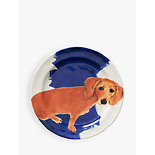 Buy Anthropologie Sally Muir Dog-a-Day Dessert Plate, Dia.21.5cm, Dachshund Online at johnlewis.com