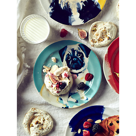 buy anthropologie sally muir dog a day dessert plate dia