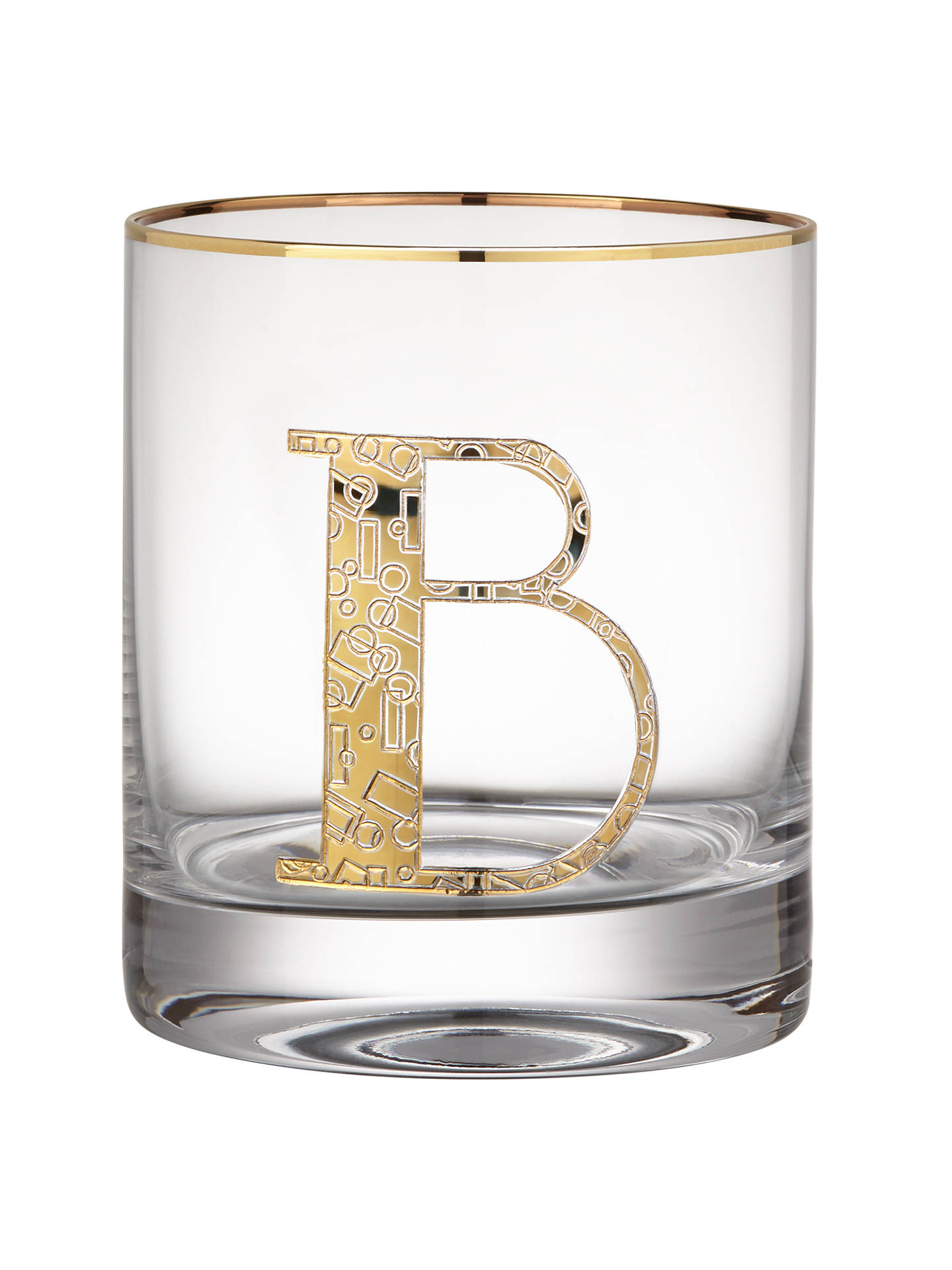BuyAnthropologie Gilded Monogram Glass Tumbler, 443ml, B Online at johnlewis.com