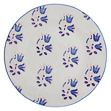 Buy Anthropologie Salma Side Plate, Blue/White, Dia.21.6cm Online at johnlewis.com