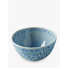Buy Anthropologie Old Havana Bowl, Blue, Dia.15.4cm Online at johnlewis.com