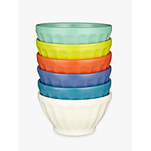Buy Anthropologie Latte Bowl, Set of 6, Assorted Colours, Dia.14cm Online at johnlewis.com