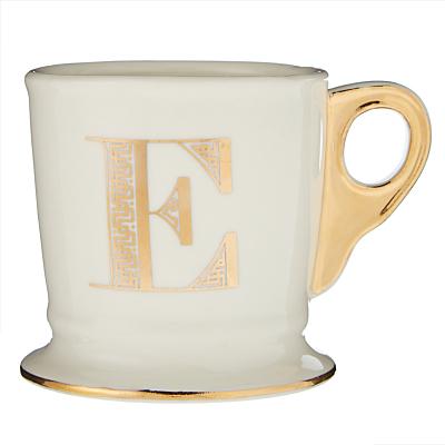 anthropologie gold monogram mug, 384ml