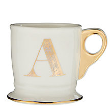 Buy Anthropologie Gold Monogram Mug, 384ml Online at johnlewis.com