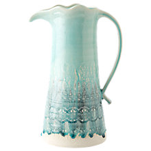 Buy Anthropologie Old Havana Pitcher, Turquoise, 1.9L Online at johnlewis.com