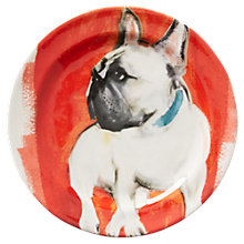 Buy Anthropologie Sally Muir Dog-a-Day Dessert Plate, Dia.21.5cm, French Bulldog Online at johnlewis.com