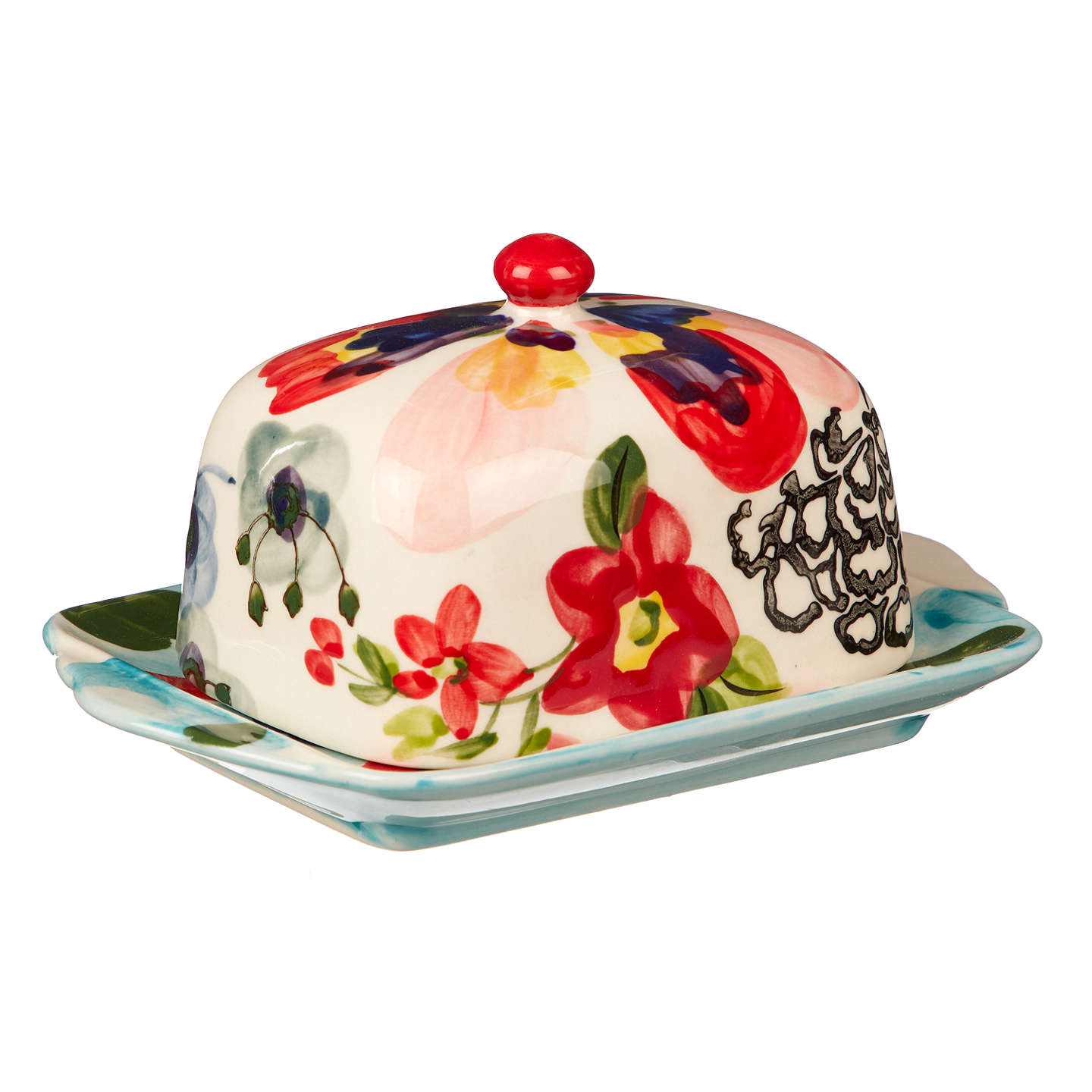 Exceptional BuyAnthropologie Painted Amaryllis Butter Dish, Multi, 17cm Online At  Johnlewis.com ... Great Pictures
