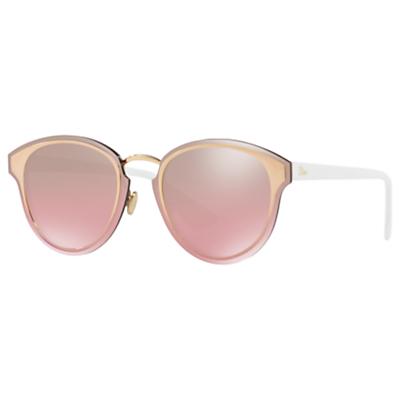 Christian Dior DiorNightFall Oval Sunglasses, Gold/Mirror Pink