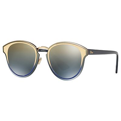 Christian Dior DiorNightFall Round Sunglasses, Multi/Mirror Grey